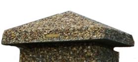 крышка столба из каменной крошки